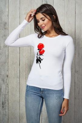 Блузка 3012-LG белый дл. рукав