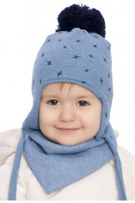 Комплект ANDER 8005-8005_1 шапка+косынка 6-12 мес. синий