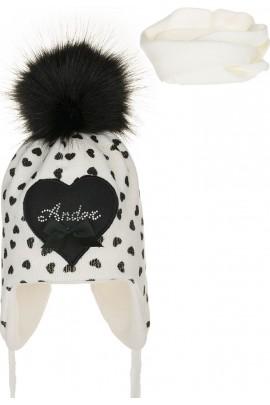 Комплект ANDER 8009-8009_1 шапка+снуд 2-3 года экрю