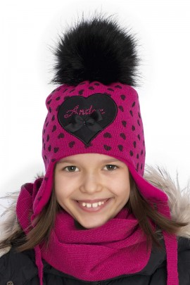 Комплект ANDER 8009-8009_1 шапка+снуд 2-3 года фуксия