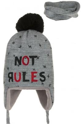 Комплект ANDER 8016-8016_1 шапка+снуд 2-3 года серый