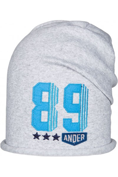 Шапка ANDER D237 светло-серый 6-9 лет