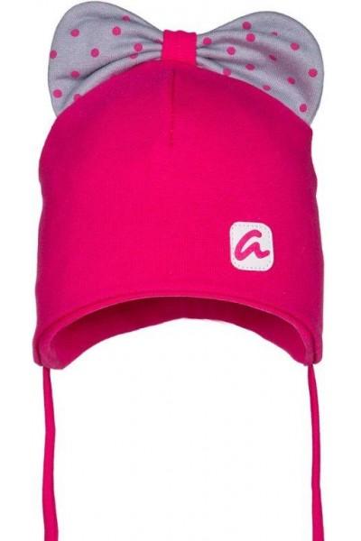 Шапка ANDER 9054 ярко-розовый 5-12 мес