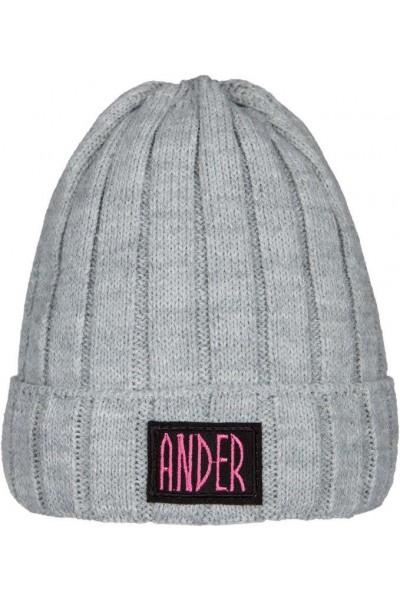 Шапка ANDER 9069 серый 4-6 лет