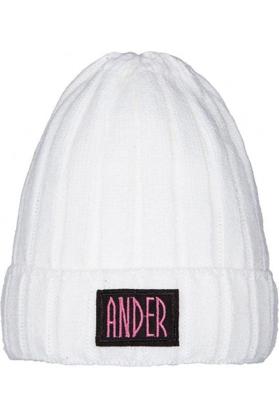 Шапка ANDER 9069 белый 4-6 лет