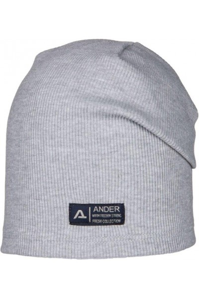 Шапка ANDER 9070 серый 6-9 лет