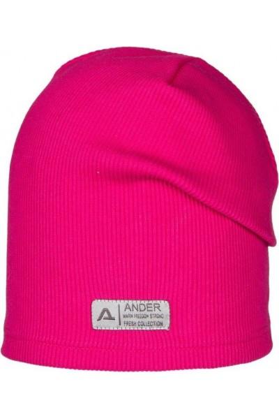 Шапка ANDER 9070 ярко-розовый 6-9 лет