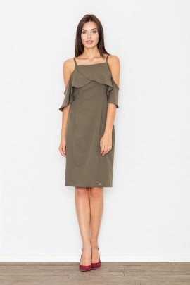 Платье FIGL M478 оливка
