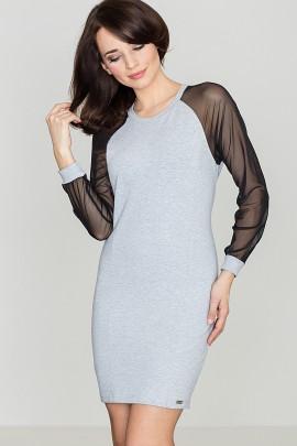 Платье KATRUS K332 серый