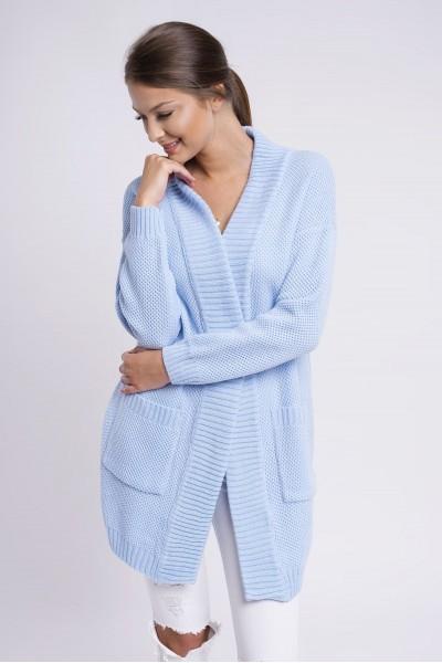 Кардиган MARTAR IDA голубой с карманами