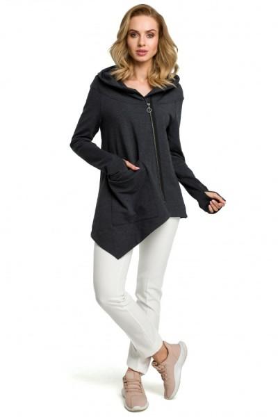 Блузка MOE 390 casual графит хлопок
