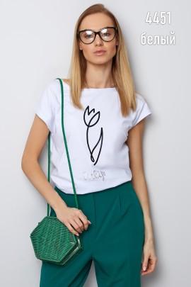 Блузка Latynka 4452 белый SIZE+
