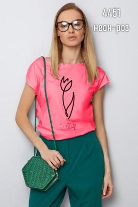 Блузка Latynka 4451 ярко-розовый