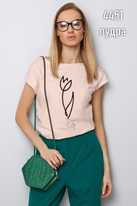 Блузка Latynka 4452 пудровый розовый SIZE+