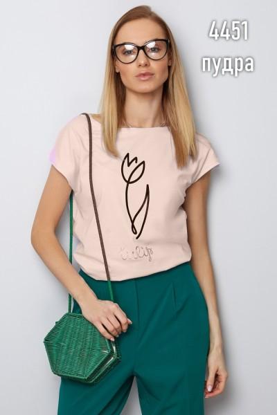 Блузка Latynka 4451 пудровый розовый