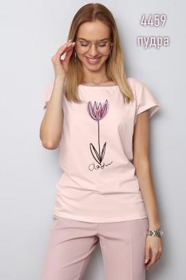Блузка Latynka 4459 пудровый розовый