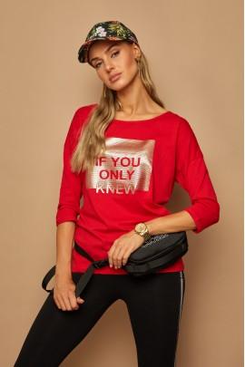 Блузка LAMAJKA 9248 красный хлопок