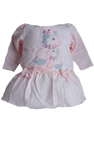 Платье LOLA Pony абрикос вышивка хлопок