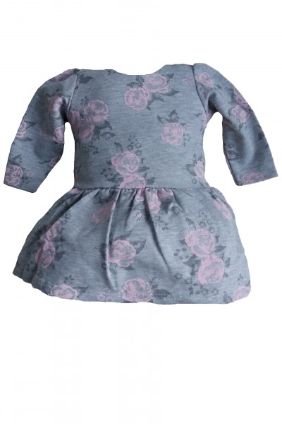 Платье LOLA Roza серый хлопок