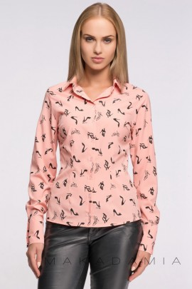 Рубашка MAKADAMIA M262 розовый туфельки