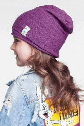 Комплект PAMAMI демисезон 16307+16309 (шапка+снуд) на 3-7 лет фиолетовый