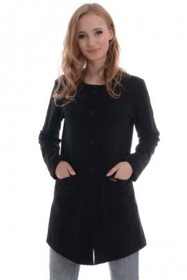 Пальто UNISONO 801678 чёрный